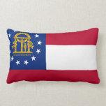 Georgia State Flag Pillow