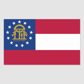 Georgia State flag Rectangular Sticker