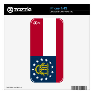 Georgia State Flag Skins For The iPhone 4S