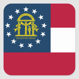 Georgia State Flag Square Sticker