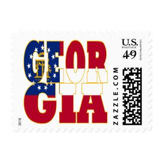 Georgia state flag text postage