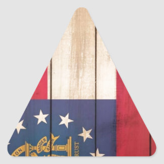 Georgia State Flag Triangle Sticker