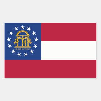 Georgia State Flag, United States Rectangular Sticker