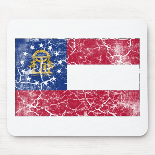Georgia State Flag Vintage Mouse Pad