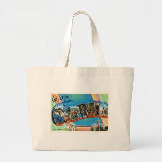 Georgia State GA Old Vintage Travel Souvenir Large Tote Bag
