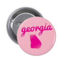 Georgia state in pink pinback button
