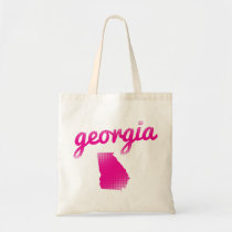 Georgia state in pink tote bag
