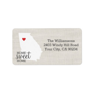 Home Sweet Home Shipping Address Return Address Labels Zazzle - Georgia map label