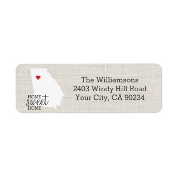 USA Themed Georgia State Love Map Home Sweet Home Custom Label