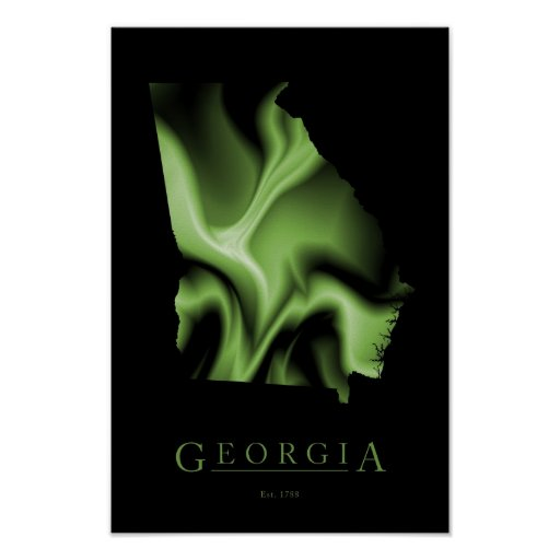 Georgia State Map Image Poster