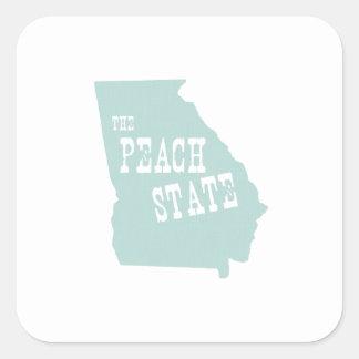 Georgia State Motto Slogan Square Sticker