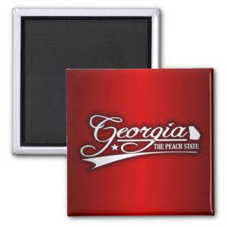 Georgia State of Mine 2 Inch Square Magnet