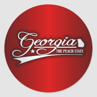 Georgia State of Mine Round Sticker