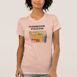 Georgia State Peach Women's Jersey T-Shirt, Peach