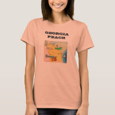 Georgia State Peach Women's Jersey T-shirt, Peach T-shirt at Zazzle