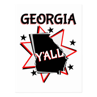 Georgia State Pride Y'all Postcard