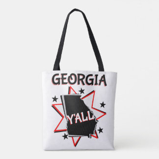 Georgia State Pride Y'all Tote Bag
