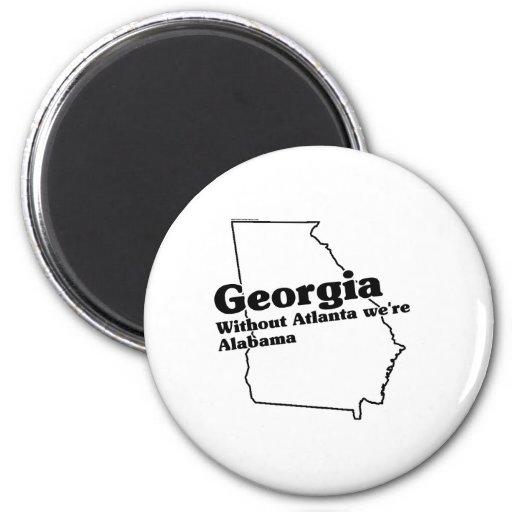 Georgia State Slogan 2 Inch Round Magnet