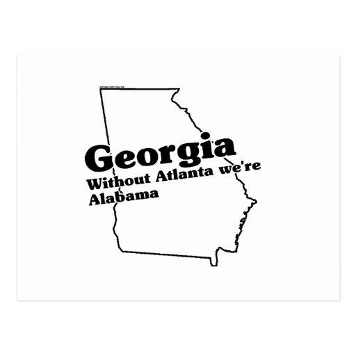 Georgia State Slogan Postcard