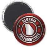 """""""Georgia Steel"""" Magnets (Red)"""
