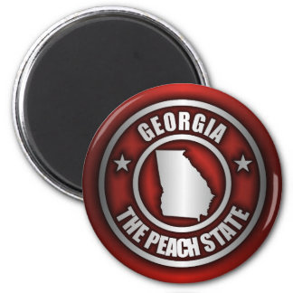 Georgia Steel Magnets Red