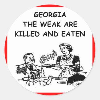 GEORGIA ROUND STICKERS