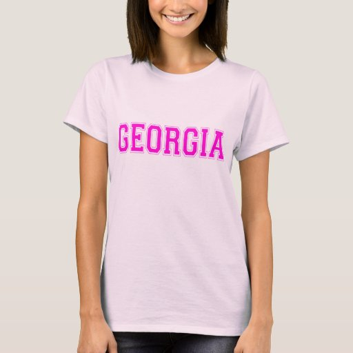 Georgia t shirt pink lettering zazzle for Shirt lettering near me