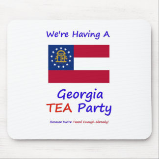 Georgia TEA Party - We're Taxed Enough Already! Mouse Pad