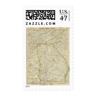 Georgia, Tennessee,  Alabama Postage Stamp