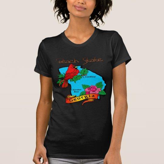 Georgia The Peach State Blue & Cardinal T-Shirt