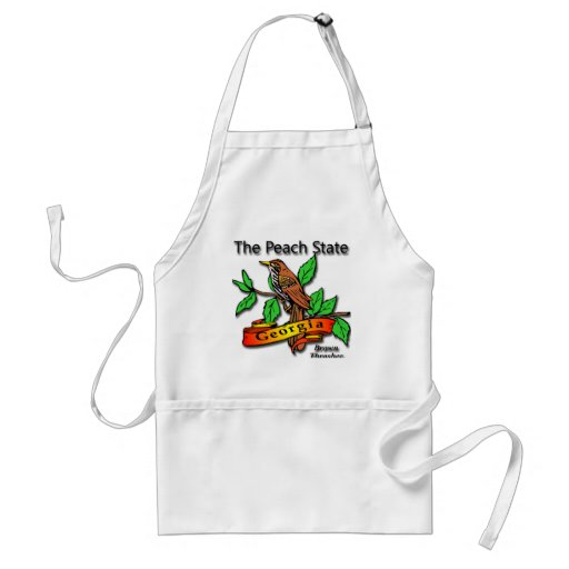 Georgia The Peach State Brown Thrasher Aprons