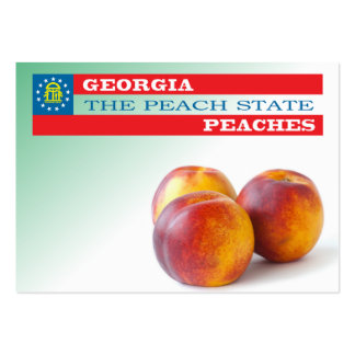 Georgia - the peach state large business cards (Pack of 100)