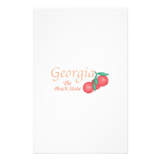 Georgia The Peach State Personalized Stationery