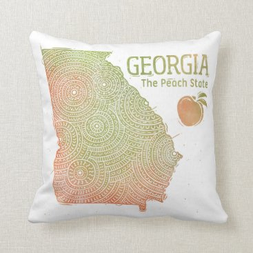 USA Themed Georgia Throw Pillow