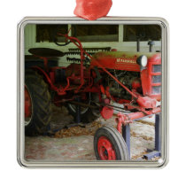 Georgia tractor metal ornament