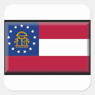 Georgia (US) Flag Square Sticker