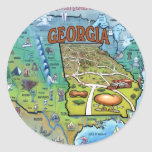 Georgia USA Map Classic Round Sticker