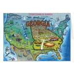 Georgia USA Map Greeting Card