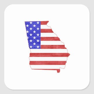 Georgia USA silhouette state map Square Sticker