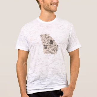 Georgia Vintage Picture Map T-Shirt