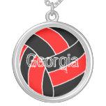 Georgia Volleyball Custom Necklace