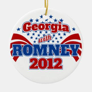 Georgia with Romney 2012 Ceramic Ornament