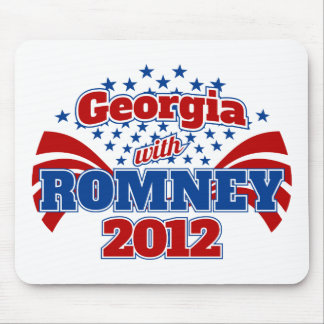 Georgia with Romney 2012 Mouse Pad