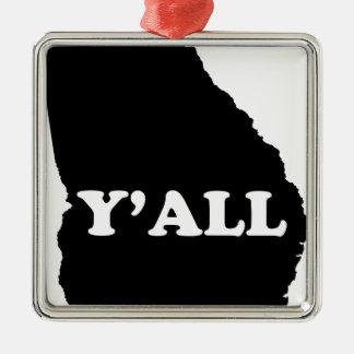 Georgia Yall Metal Ornament