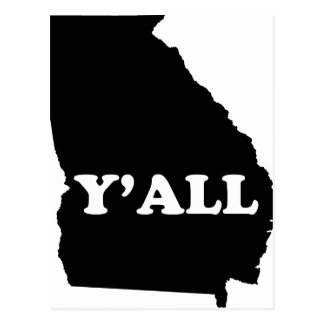 Georgia Yall Postcard