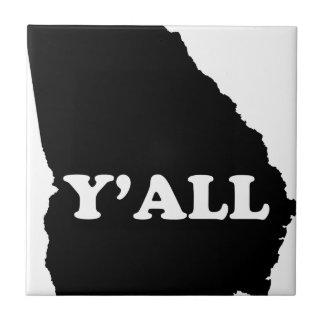 Georgia Yall Small Square Tile