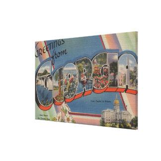 GeorgiaLarge Letter ScenesGeorgia Stretched Canvas Print