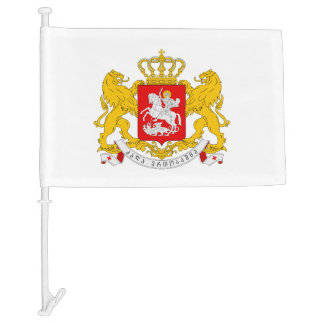 Georgian coat of arms car flag