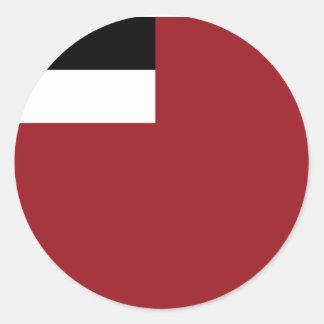 Georgian flag classic round sticker