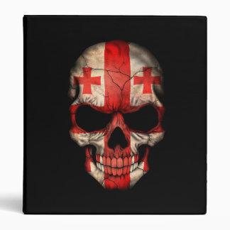 Georgian Flag Skull on Black Binder